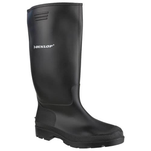 Dunlop Pricemastor Plain Rubber Wellingtons Black